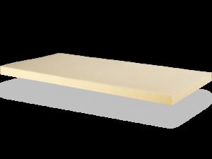 Der druckentlastende da punktelastische Viscoschaum der viscoelastischen ergomed® Matratzentopper besitzt ein Raumgewicht von 50 kg/m³